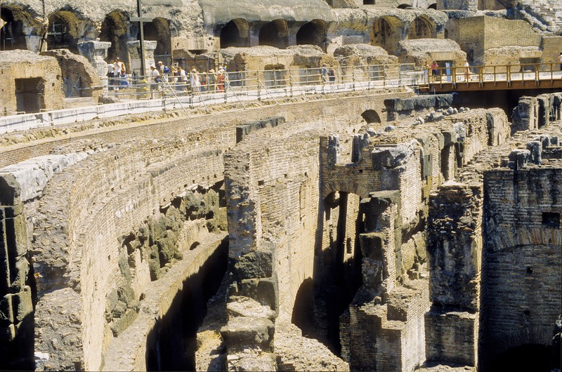 Detail of the Colosseum - Rome, Italy