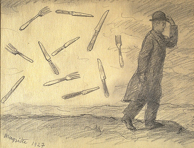 René Magritte (1898–1967) La Tempête (The Storm), 1927 Graphite © 2012 C. Herscovici, London / Artists Rights Society (ARS), New York Gale and Ira Drukier