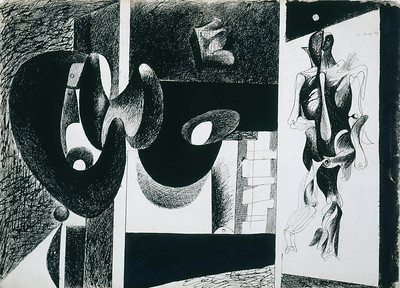 Arshile Gorky (1904–1948) Nighttime, Enigma, and Nostalgia, 1931 Ink on paper © 2012 Estate of Arshile Gorky / Artists Rights Society (ARS), New York The Museum of Fine Arts, Houston, Bequest of Caroline Wiess Law, 2004.17 Although