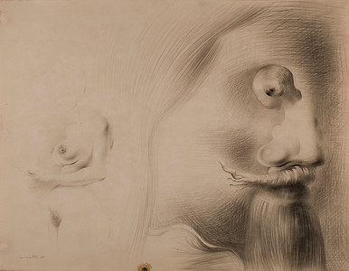 "Salvador Dalí (1904–1989) Study for ""The Image Disappears,"" 1938 Pencil on paper © Salvador Dalí, Fundació Gala-Salvador Dalí, Artists Rights Society (ARS), New York 2012 Photo © 2012 Museum Associates/ LACMA, by Michael Tropea Private Collection"