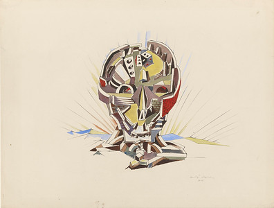 Masson;  Andre;  1896-1987. Ville cranienne (Skull City), 1940 Watercolor and pen and black ink on paper. 18 7/8 x 24 13/16 inches (480 x 630 mm)  2011.6  Recto  The Pierpont Morgan Library, New York.Gift of the Modern & Contemporary Collectors Committee. 2011.6 RECTO.Photography by Grahams S. Haber, 2012. © 2012 Artists Rights Society (ARS), New York / ADAGP, Paris.