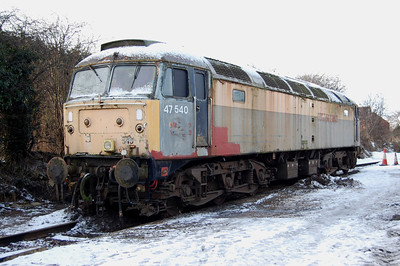 On display in the yard was privately-owned 47540, which is being stored at the Wensleydale Railway. Until the start of the carriageway widening scheme in the middle of last year, this loco had of course resided alongside the A1 a few miles south of Leemin