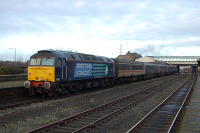 'Craftsman' is pictured again at Workington on the rear of 2T32 1445 to Maryport (18/01/2010)
