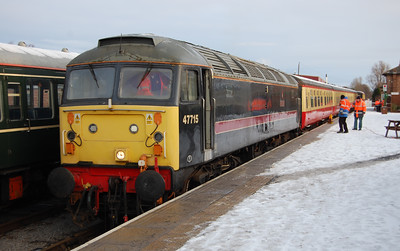 There's a certain sense of 'deja vu' about my first image of the New Year, since as with 2009 it's 47715 'Poseidon' at Leeming Bar with the first train of the day, the 0950 to Redmire (02/01/2010)