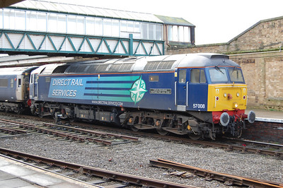 57008 waits to depart from Workington with 2T32 1445 to Maryport (18/01/2010)
