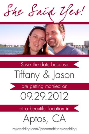 Jason & Tiffany Save the Date