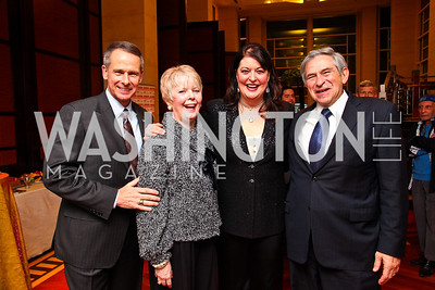 General Peter Pace and Lynne Pace, Ann Hampton Callaway, Paul Wolfowitz. Jazz Dinner. Photo by Tony Powell. Embassy of Singapore. February 9, 2011