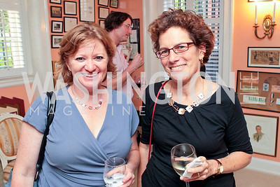Robyn Lieberman, Susan Bandler. Jeremy Ben-Ami's book launch. Home of Esther Coopersmith. Photos by Alfredo Flores. July 27, 2011
