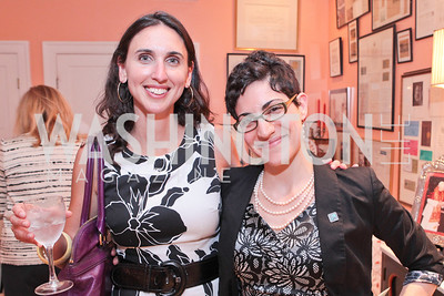 Shira Frank, Anna Lefer Kuhn. Jeremy Ben-Ami's book launch. Home of Esther Coopersmith. Photos by Alfredo Flores. July 27, 2011