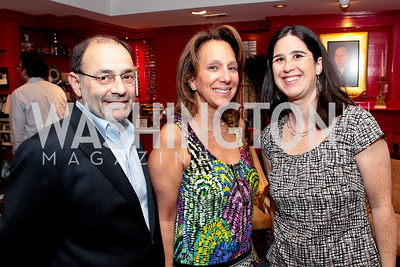 Harvey Levin, Faye Levin, Alisa Ben-Ami. Jeremy Ben-Ami's book launch. Home of Esther Coopersmith. Photos by Alfredo Flores. July 27, 2011