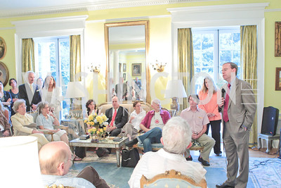 Jeremy Ben-Ami's book launch. Home of Esther Coopersmith. Photos by Alfredo Flores. July 27, 2011