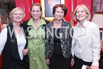 RIcki Green, Judith Barnett, Lorraine Hariton, Susan Kurland. Jeremy Ben-Ami's book launch. Home of Esther Coopersmith. Photos by Alfredo Flores. July 27, 2011