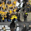 "University of Colorado mascot ""Chip"" points to CU sophomore Ozell Williams after one of his high flying routines during the football game against Baylor on Saturday, Oct. 16, at Folsom Field in Boulder. Baylor defeated CU 31-25.<br /> For more photos go to  <a href=""http://www.dailycamera.com"">http://www.dailycamera.com</a><br /> Photo by Jeremy Papasso/ Camera"