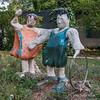 Whimisical-statues,-Ma'ale-Hachamisha,-Israel