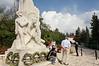 Monument-to-fallen-Gordonia-Youth,-Ma'ale-Hachamisha-Kibbutz,-Israel