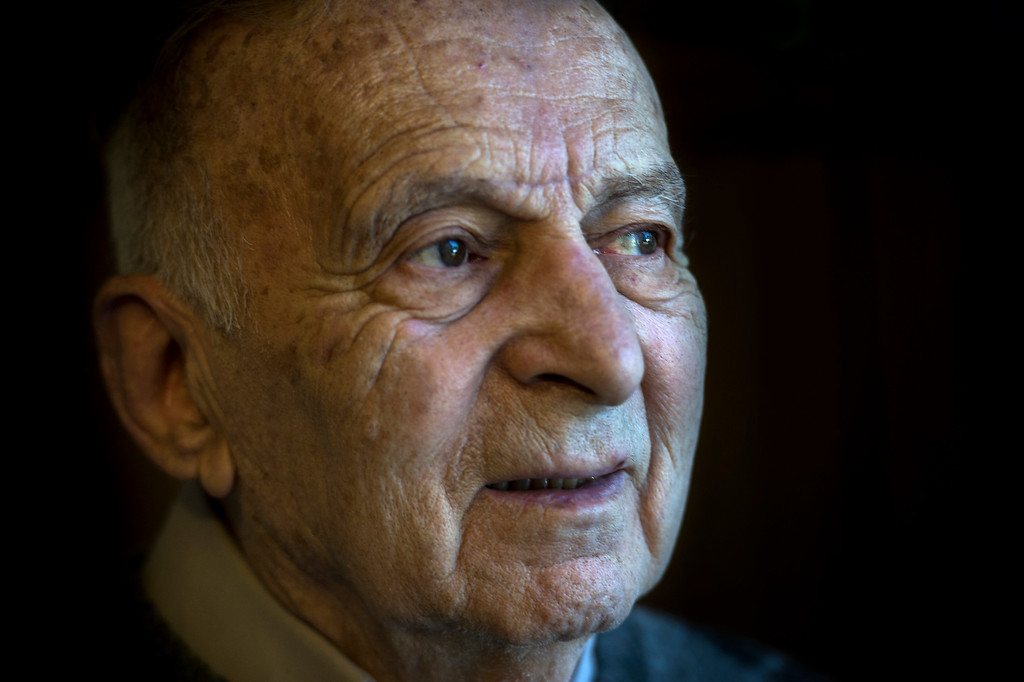 . Joseph Neustadt, 89, gazes outward in his room at the Los Angeles Jewish Home for the Aging-Eisenberg Village in Reseda on Wednesday, January 25, 2017. Joseph Neustadt who was born and raised in Riga Latvia, Baltic states, was the lone survivor of the Holocaust from his immediate family. He says at the age of 14 he was placed in a concentration camp for 4 years, he lost his mother, father, two sisters and a brother during World War II. Photo by Ed Crisostomo, Los Angeles Daily News/SCNG)