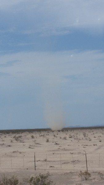 Dust devils coming home from Sedona