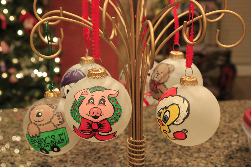 During the Holidays, I Also Make Hand-Painted Christmas Ornaments.