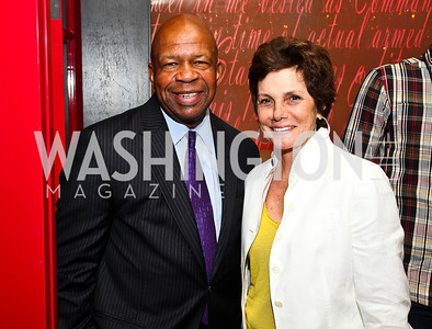 Rep. Elijah Cummings, Maureen Orth. Photo by Tony Powell. Kareem Abdul-Jabbar Private Dinner. June 6, 2011