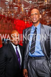 Rep. Elijah Cummings,  Kareem Abdul-Jabbar. Photo by Tony Powell. Kareem Abdul-Jabbar Private Dinner. June 6, 2011