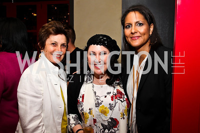 Maureen Orth, Deborah Morales, Karen Finney. Photo by Tony Powell. Kareem Abdul-Jabbar Private Dinner. June 6, 2011