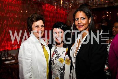 Maureen Orth, Deborah Morales, Karen Finney. Photo by Tony Powell. Kareem Abdul-Jabbar Private Dinner. June 6, 2011