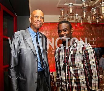 Kareem Abdul-Jabbar, Anthony Morrow. Photo by Tony Powell. Kareem Abdul-Jabbar Private Dinner. June 6, 2011