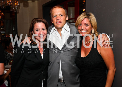 Kimball Stroud, Mark Ein, Victoria Michael. Photo by Tony Powell. Kareem Abdul-Jabbar Private Dinner. June 6, 2011