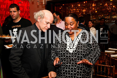 Timothy Greenfield-Sanders, Tonya Lombard. Photo by Tony Powell. Kareem Abdul-Jabbar Private Dinner. June 6, 2011