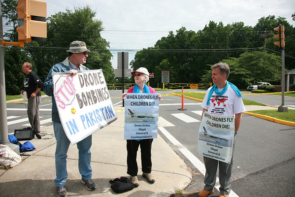 Killer Drone Protest @ CIA Headquarters June 8, 2013