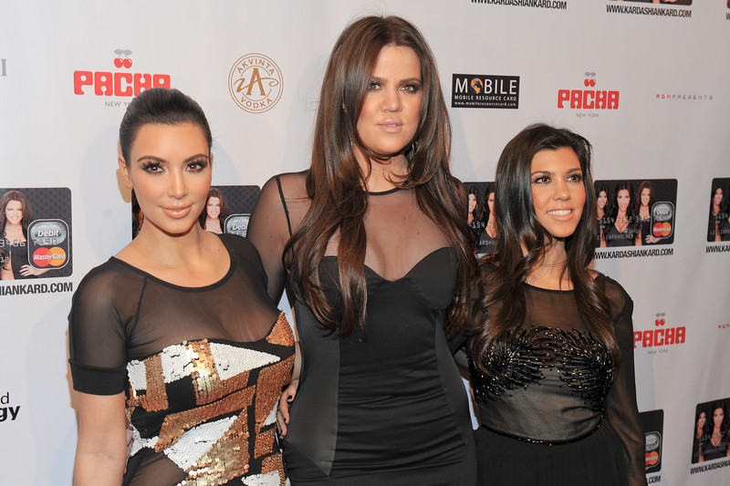 NEW YORK, NY - November 9:  (L-R) Kim Kardashian, Khloe Kardashian Odom, Kourtney Kardashian  Attends the Official Kardashian MasterCard Launch Party at PACHA on November 9, 2010 in New York City.  (Photo by Joseph Bellantoni/In House Image)