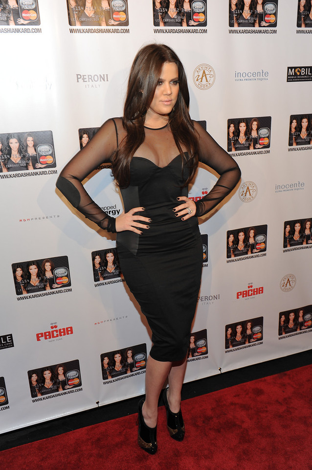 NEW YORK, NY - November 9: Khloe Kardashian Odom Attends the Official Kardashian MasterCard Launch Party at PACHA on November 9, 2010 in New York City.  (Photo by Joseph Bellantoni/In House Image)