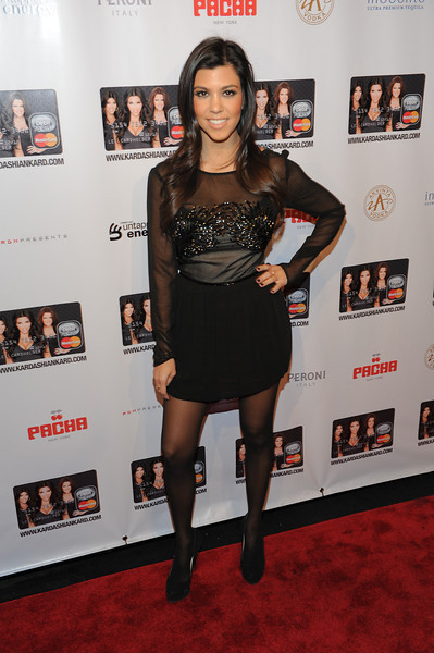 NEW YORK, NY - November 9: Kourtney Kardashian Attends the Official Kardashian MasterCard Launch Party at PACHA on November 9, 2010 in New York City.  (Photo by Joseph Bellantoni/In House Image)