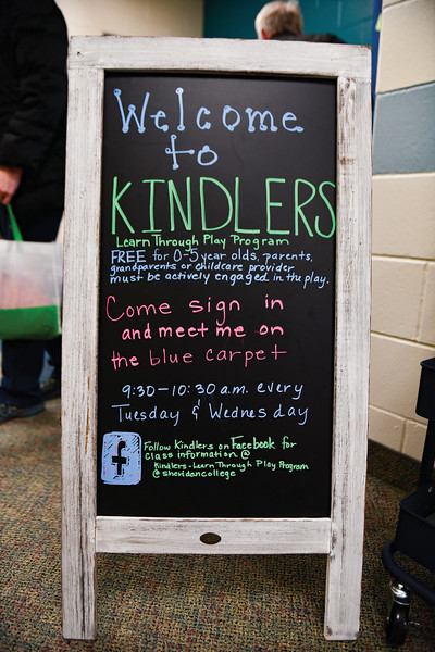 Matthew Gaston | The Sheridan Press<br>The Kindlers program, hosted by Highland Park Elementary School, gives children ages 0-5 the opportunity to play and socialize in a classroom setting, as captured Wednesday, Jan. 9, 2019.