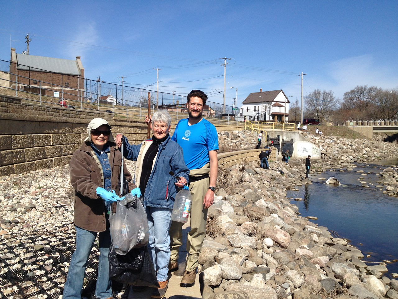 Pete Levi's mother and a friend also volunteered for the river cleanup.  THANKS!!