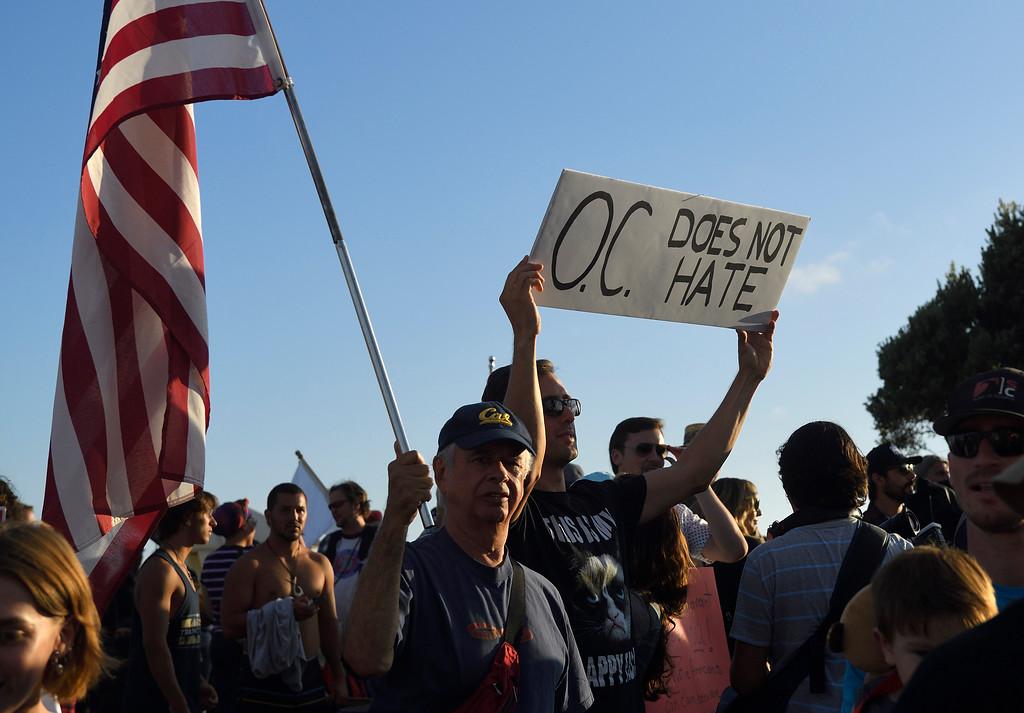 . Demonstrators at the Laguna Beach demonstration. Kevin Sullivan, Orange County Register/SCNG
