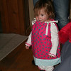 Little Ava models a little dress.