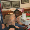 Adnan from Ghana and Alessandro from Italy at the Arts and Crafts Fair.
