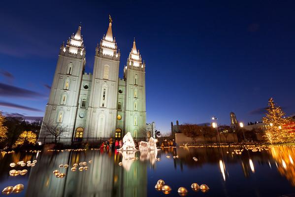 329/365 Salt Lake Temple Square Lights