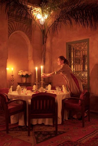 Le Tobsil, Moroccan restaurant, Marrakech, Morocco.