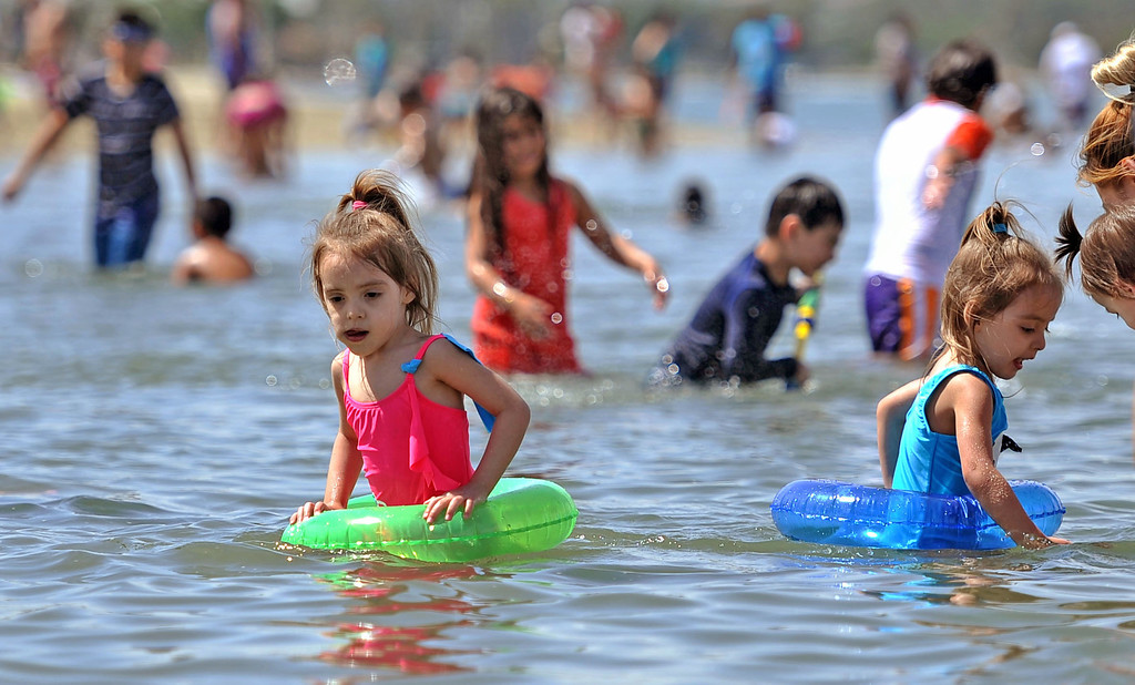 . People beat the heat at Mothers Beach in Long Beach, CA. on Thursday May 1, 2014. (Photo by Sean Hiller/ Daily Breeze).