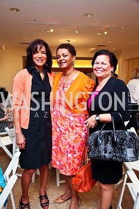 Ann Walker Marchant, Marcia Jackson, Debra Lee. Photo by Tony Powell. LUNGevity Luncheon. Saks Jandel. April 29, 2011