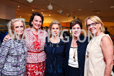 Debbie Dingell, Grace Bender, Wilma Bernstein, Liz Dubin, Marcia Carlucci. Photo by Tony Powell. LUNGevity Luncheon. Saks Jandel. April 29, 2011