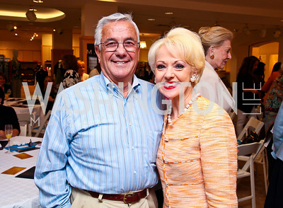 Climis and Carol Lascaris. Photo by Tony Powell. LUNGevity Luncheon. Saks Jandel. April 29, 2011