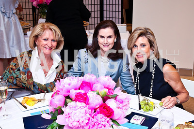 Maggie Shannon, Alexandra de Borchgrave, Katherine Wood. Photo by Tony Powell. LUNGevity Luncheon. Saks Jandel. April 29, 2011