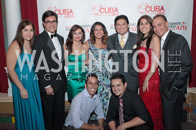 Rick Rodriguez, Monica Gil, Vincent Cordero, Yvette Fernandez, Francisco Cortes, Wilmer Calderon and Jesse Garcia. Noche de Gala after party. Cuba Libre. Photo by Alfredo Flores. September 13, 2011