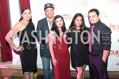 Elia Sanchez, Jimmy Smits, Yvonne Delarosa, Jesse Garcia. La Gran Desvelada. Noche de Gala after party. Cuba Libre. Photo by Alfredo Flores