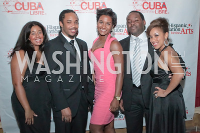 Courtney Levy, Byron Curry, Faitle Cooper, Thomas Odom, Stacey Calhoun. La Gran Desvelada. Noche de Gala after party. Cuba Libre. Photo by Alfredo Flores. September 13, 2011