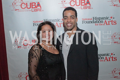 Barbara Mata and Rashaad Ernesto Green. La Gran Desvelada. Noche de Gala after party. Cuba Libre. Photo by Alfredo Flores