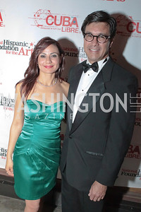 Monica Gil and Rick Rodriguez. La Gran Desvelada. Noche de Gala after party. Cuba Libre. Photo by Alfredo Flores